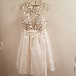 Off White sequined cocktail dress